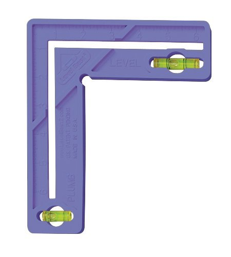 Level Best 189 6-Inch Home/Craft/School Square with Level, Violet by The Level Best