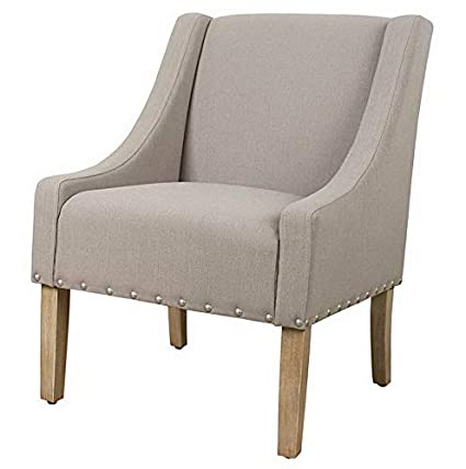 Amazon.com: Hebel Modern Swoop Accent Chair with Nailhead ...
