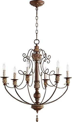 (Quorum Lighting 6106-6-39, Salento 1 Tier Chandelier Lighting, 6LT, 120 Watts, Vintage Copper)