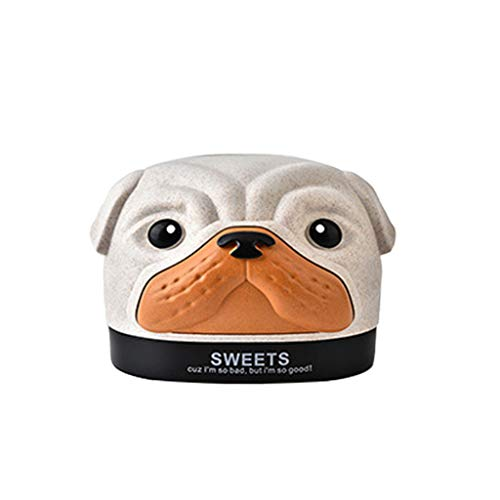Fan-Ling Cute Dog Tissue Box,Creative Cartoon Paper Box Pumping Paper Box, Animal Tissue Napkin Paper Box, Home Toilet Box,Reusable,Fashion Nordic Style (Beige) (Wet Dog Food Dispenser)