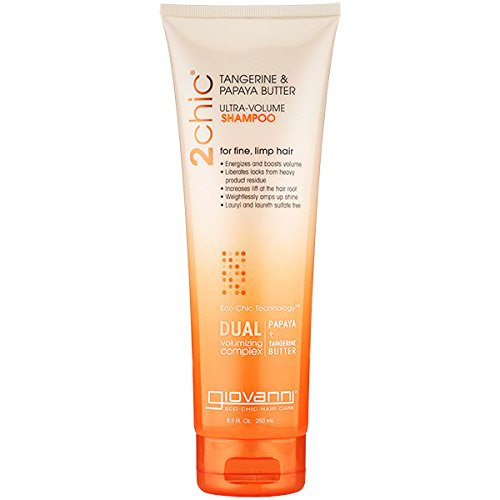 Giovanni Cosmetics 2chic Ultra-Volume Shampoo, Tangerine/Papaya Butter, 8.5 -