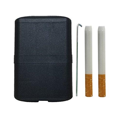 World's Best Hitter Box | Mile High Hitter | America's #1 Smoke Box | 2 Quartz Bats | 1 Cleaning Poker | Black - Hitter Bat