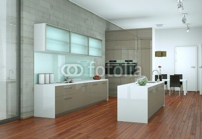 Modern Kitchen Interior Design 75836506 Aluminium Dibond 40 X 30
