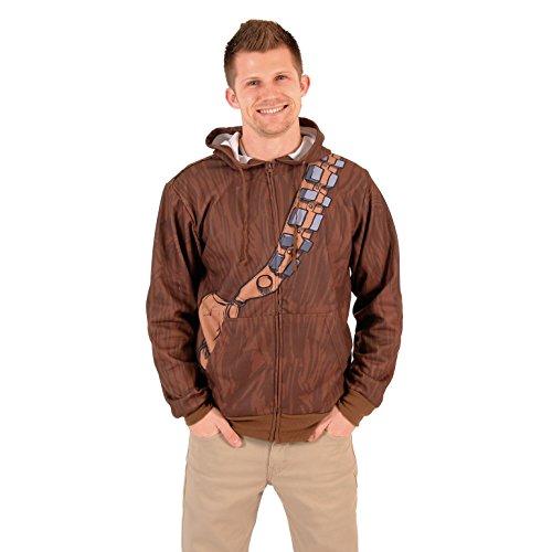 Star Wars Chewbacca & Threepio Fleece Zip Hoodie and Backpack (3X) Brown -