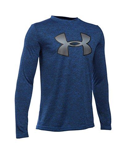 Under Armour Boys' Novelty Big Logo Long Sleeve, Ultra Blue (907), Youth Small