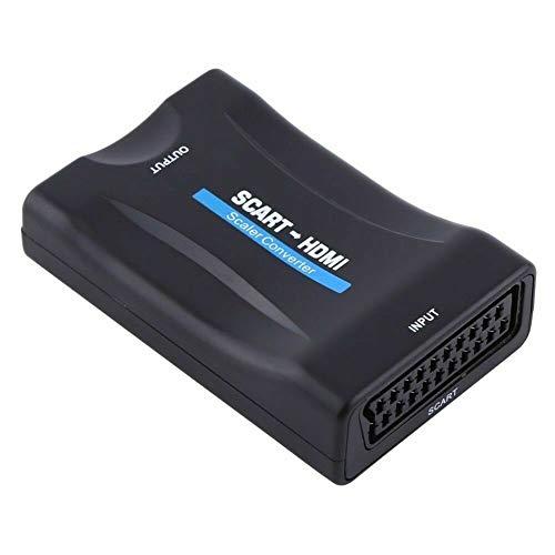 Convertisseur p/éritel//HDMI Adaptateur de signal audio//vid/éo Convertisseur 1080p HDMI noir