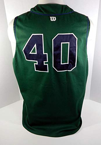 2001 New Orleans Zephyrs #40 Game Used Green Vest Jersey - Game Used MLB Jerseys