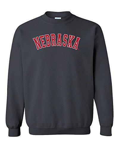 CornBorn Nebraska Arch Crewneck Sweatshirt - Black - XL ()