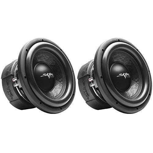 (2) Skar Audio DDX-10 D4 10″ 1500W Max Power Dual 4 Car Subwoofer