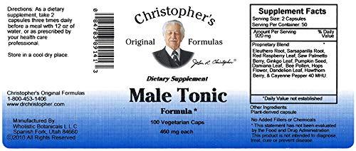 Christopher's Original Formulas Male Tonic 100 Vegetarian Capsules (3)