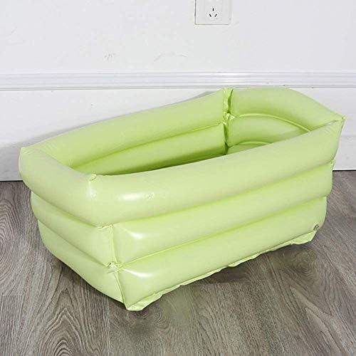 インフレータブルプール65 * 35 * 30センチメートルポータブルインフレータブルベビーPVCバスタブ折りたたみ子供シットリー洗濯タブ盆地旅行バスタブ (Color : Green, Size : 1)