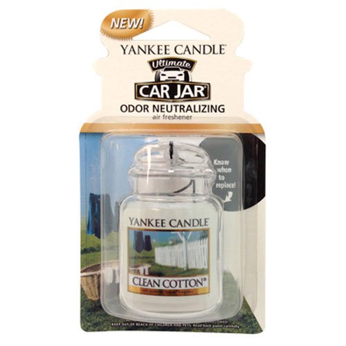 Yankee Candle Car Jar Ultimate, Clean Cotton Clean Cotton Jar Candle