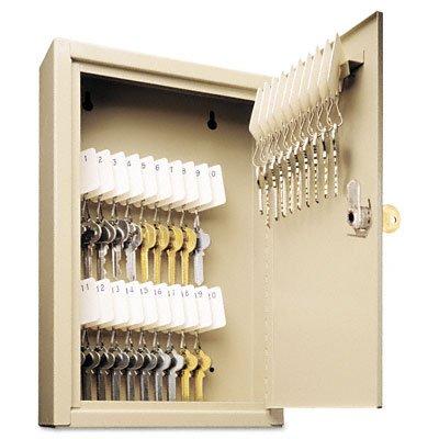 (SteelMaster 201903003 Uni-Tag Key Cabinet, 30-Key, Steel, Sand, 8 x 2 5/8 x 12 1/8)