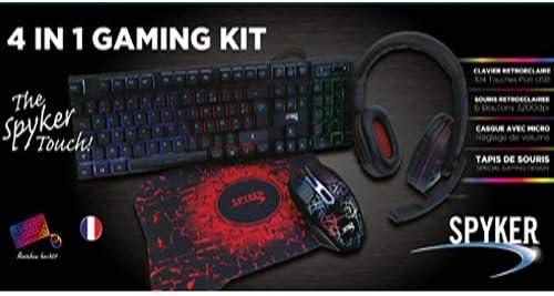 Spyker Pack Gaming 4 en 1 - Teclado - Auriculares: Amazon.es ...