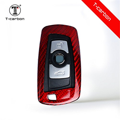 Carbon Fiber Key Fob Cover for BMW Key Fob Remote Key, Fits BMW 1 2 3 4 5 6 7 Series X3 X4 M5 M6 GT3 GT5 Smart Keyless Start - Carbon Fiber Gt3