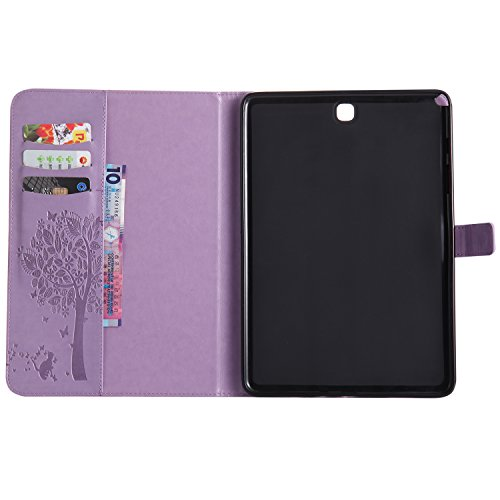 Built in A and Samsung Wake pattern 7 Smart Girl Auto 7 Case BONROY Galaxy Case Slim Stand purple Light 9 Smart Tab tree and A Cats T55 7 9 series Cover shell Ultra A Samsung Tab Tab 9 Galaxy T550 Samsung Galaxy Cat For Sleep 0UFvpqA