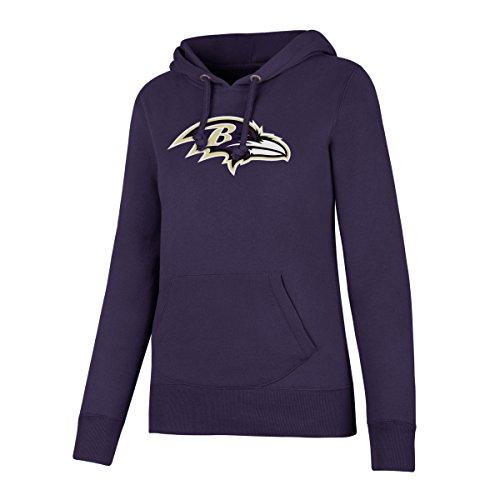 - NFL Baltimore Ravens Women's Ots Fleece Hoodie, Large, Purple