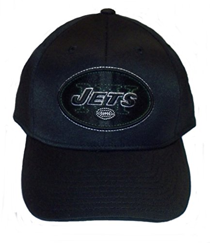 NFL New York Jets End Zone Black Structured Flex Hat - Tw90Z, Black, (Reebok Nfl New York Jets)