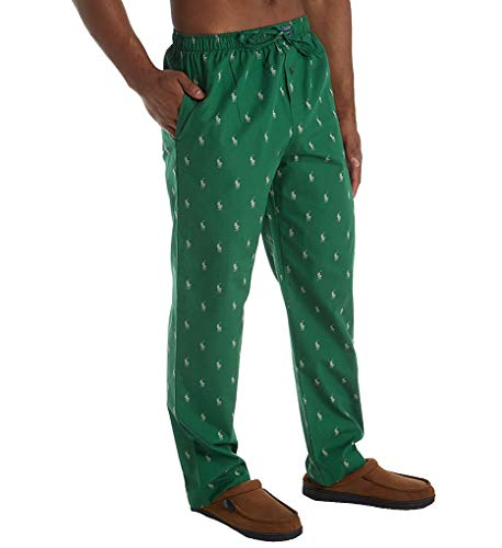 - Polo Ralph Lauren Classic Pony Print Woven Pajama Pants, L, New Forest