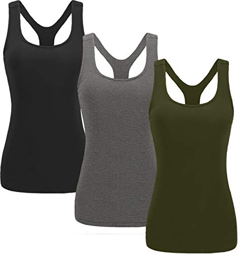 TELALEO Tank Tops for Women, Workout Athletic Racerback Tank Tops for Basic Activewear, Sleeveless Dry Fit Shirts 1-5…