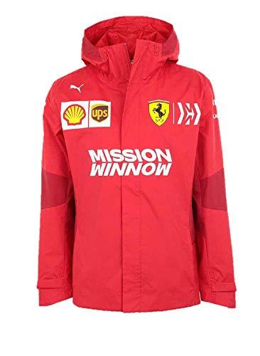 Puma Ferrari Velcro - PUMA Men's Standard Scuderia Ferrari Team Jacket, Rosso Corsa, L