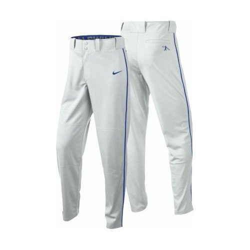 Nike Boys Swingman Dri-FIT Piped Baseball Pants (White/Royal, Medium) by Nike