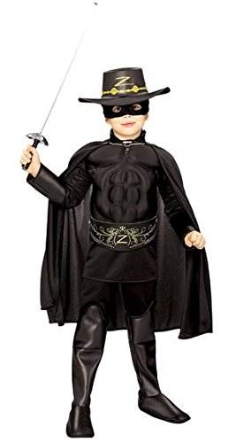 Zorro Boots (Rubie's Costume Zorro Deluxe Muscle Chest Child Costume, Toddler)
