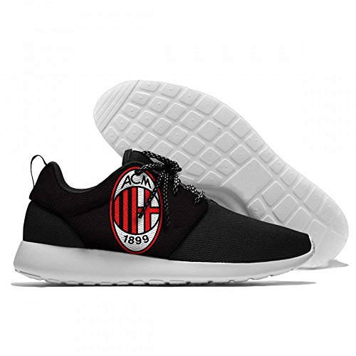 ONT-BSA AC Milan Fashion Breathable Sneakers Casual Athletic Lightweight Outdoor Sports Shoes Quick Drying Aqua Water (Ac Milan Shoes)