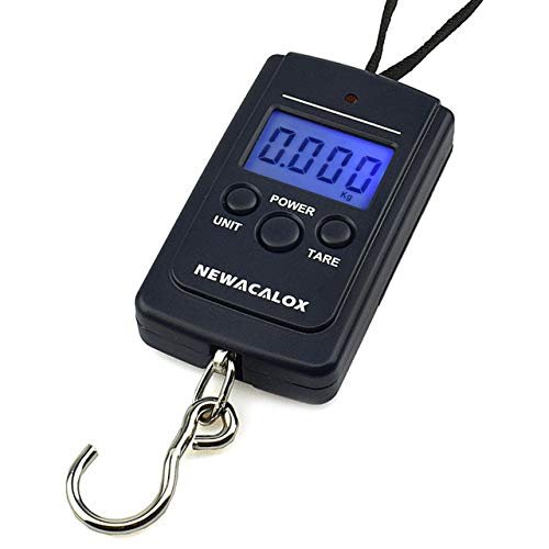 Fish LCD 40Kg//10g Black Portable Travel Hook Scale Digital Hanging Electronic