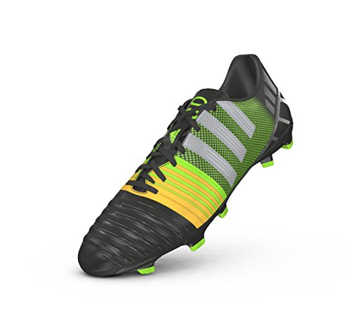 Nitrocharge 3.0FG Cleats Zapatillas de Adidas de fútbol para hombre (Negro), Core Black/Mtlc Silver