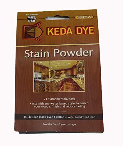(Yellow Dye by Keda Dye Sunflower Yellow Wood Dye Powder 25 Grams Makes 1 Gallon Yellow Stain Color)