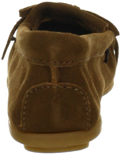 Minnetonka Womens Kilty Suede Moccasin Dusty Brown
