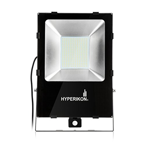 Hyperikon LED Motion Sensor Light, 1000 Watt (200W), Outdoor Flood Light, 5000k Bright White, IP65 Waterpfoor Security Light