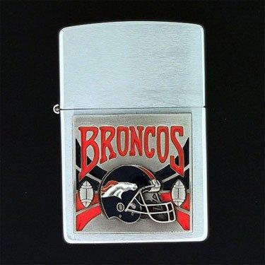 Nfl Denver Zippo Broncos Lighter (Denver Broncos Large Emblem Zippo Lighter)