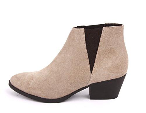 Pieces ankle boots Laura plain suede boot moonbeam