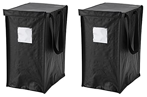 IKEA DIMPA Recycling Bag [2 Pack] for Paper, Plastic, Metal or Glass With Lid - Paper Recycling Bin