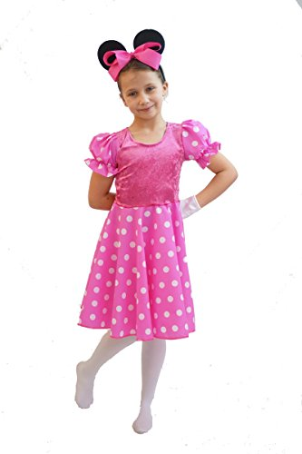 Wolrd Book Day-Disney-Fancy Dress- PINK MINNIE MOUSE COSTUME - All Children's Size's (TEEN)