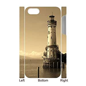 3D Bumper Plastic Case Of Lighthouse customized case For iPhone 5 5s