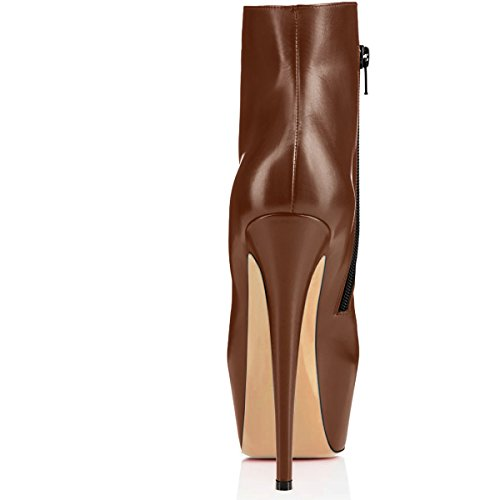Edefs À Talons Plateforme Bottes Femme Marron Classiques Chaussures Bottines Hauts rAqwB7vr