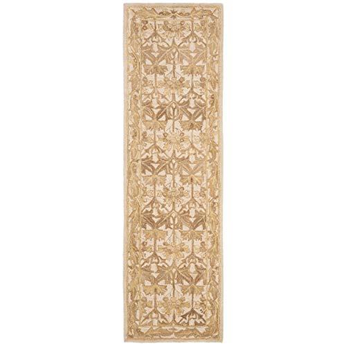 Safavieh Anatolia Collection AN541B Handmade Traditional Oriental Beige Gold Wool Runner (2'3