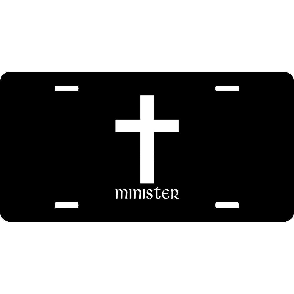 Clergy Metal License Plate