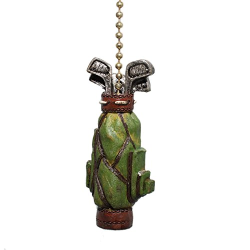 Golfer GOLF BAG Ceiling FAN PULL light chain decor - Golf Sport Figure