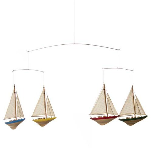 Glenna Jean Set Sail Ceiling Mobile - Sailboats