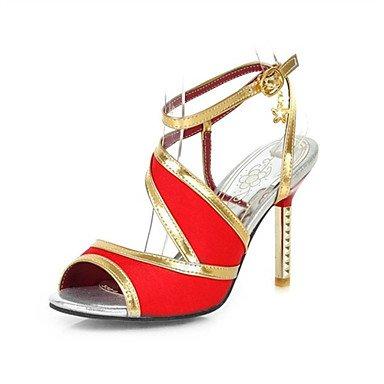 LvYuan Mujer-Tacón Stiletto-Innovador Zapatos del club-Sandalias-Boda Oficina y Trabajo Informal-Purpurina Materiales Personalizados-Negro Azul Red