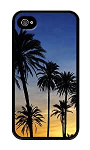 iPhone 4 Case,iPhone 4S Case,VUTTOO iPhone 4 Cover With Photo: Day Break Palms For Apple iPhone 4/4S - TPU Black