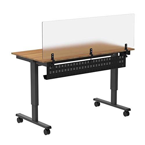 """Under Desk Cable Management Tray – 39"""" Length Black Horizontal Computer Cord Raceway and Modesty Panel (for 48"""" W Desks)"""