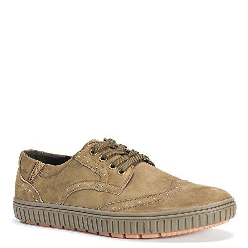 Muk Luks Heren Parker Schoenen Fashion Sneaker Kaki