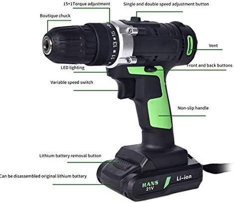 Acheter 21V Clé À Chocs sans Fil Charge Rapide 45 Nm Visseuse A Chocs 1450Rpm Haute Vitesse avec Lampe De Travail À LED pour L'installation  iMpOT