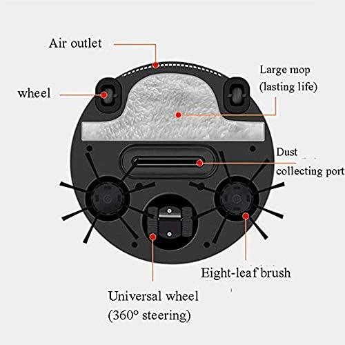 Petit Mini aspirateur, aspirateur Puissant Rechargeable par usinage à Balayage intégré de la Machine Trois-en-Un, pour Les Carreaux de parquet en Bois