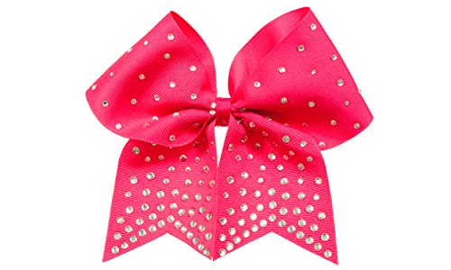 GymStar Hot Pink BLING Rhinestone Cheer Bow